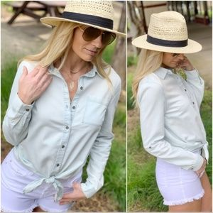 Lite Denim Button Down Shirt